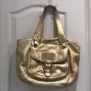 Gold leather Michael Kors bag